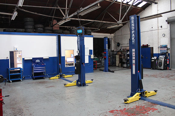 car repair garage area